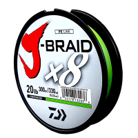Daiwa J-Braid X8 Chartreuse 20LB .23MM 300m Spool Photo