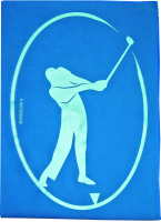 Golf - Blue Suede Microfiber Towel Photo