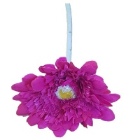 Seedleme Gerberas stems Purple Artificial Faux Silk Plants by Photo