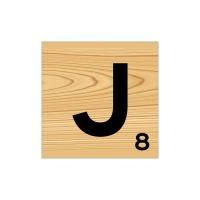 Scrabble Wall Art - J Photo