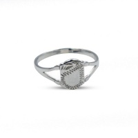 925 Sterling Silver Baby Signet Ring - Shield Photo