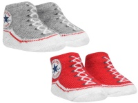 Converse Babies Chuck Taylor All Star Crib Booties - Red/Grey - 0-6Mnth [Parallel Import] Photo
