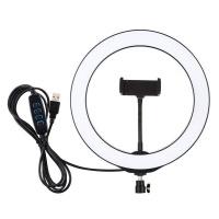 iDealShop LED Ring Light 20cm & Universal Phone Holder Kit without tripod Photo