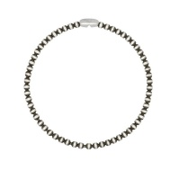 Art Jewellers - 925 Sterling Silver Faceted Ball Bracelet - Yellow Gold Photo