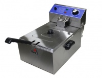Conic HEF-81A 6L Stainless Steel Single Pan Electric Deep Fryer Photo