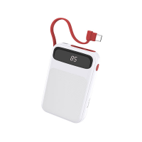 Hoco Powerful mobile power bank with built-in Type-C cable Photo