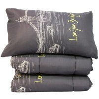 Lush Living - Duvet Comforter - Quilted Cover Set - 2 Pillow Cases - Sailor Photo