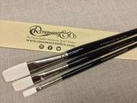 Rosemary Ivory Long Flat Brush Set of 3 Photo