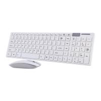Ultra thin White Wireless Keyboard & Mouse K-06 Photo