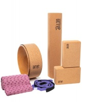 GetUp Cork Yoga Mat Set For Beginners Photo