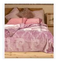 Pierre Cardin Luxury Mink Blanket - Lilac Photo