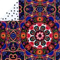 Gift Wrapping Paper 5m Rolls - Floral Kaleidoscope by Melli Mello Photo