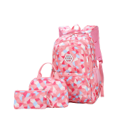 Three Piece School Backpack Bag- Large Pink Photo