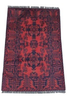 Quality Persian Rugs Fine Afghan Genuine Turkman Carpet - 120 x 80 cm Photo