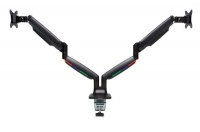 Kensington SmartFit One -Touch Height Adjustable Dual Monitor Arm - Black Photo