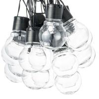 20 LED Solar Powered Retro Bulb String Lights Photo