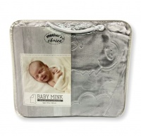 Mothers Choice Baby Mink Blanket - Grey Photo