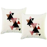 PepperSt - Scatter Cushion Cover Set - Triangles Abstract Photo