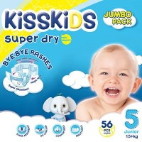 Kisskids Super Absorbent Comfortable - Size 5 Jumbo Pack - 56 Nappies Photo