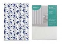2 Shower Curtains - Starfish & White Photo