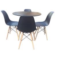 Round Table Set - Black Photo