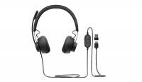 Logitech VC Zone Wired headset - Graphite - USB - Microsoft Team Certified Photo