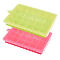 DHAO -2 Packs 24 Ice Cube Square Ice Cube Molds Silicone Ice Maker Photo