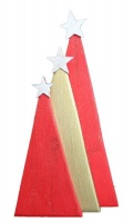 Christmas Trees - Set of 3 - FUN Decorations - Red Gold Red Photo