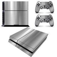 SKIN-NIT Decal Skin For PS4: Chrome Silver Photo