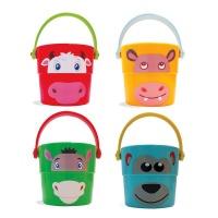edushape Happy Face Stacker Buckets: 4 Pieces Photo