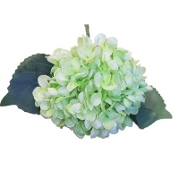 Seedleme Hydrangea 34cm Green Plastic Artificial Faux Silk Plants by Photo