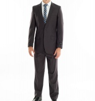 Men's Warner 2 Piece Suit - StatesMan - Charcoal Photo