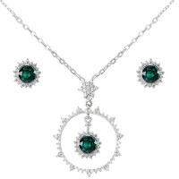 Civetta Spark Sunshine Jewellery Set- Swarovski Emerald Crystal Photo