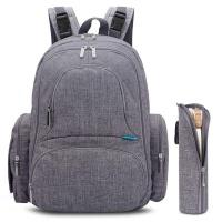 MLTK Designs Knapsack Large Double Storage Baby Backpack - Grey Photo