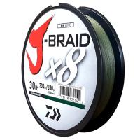 Daiwa J-Braid X8 Dark Green 30LB .28MM 300m Spool Photo