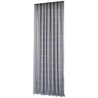 Matoc Designs Matoc Readymade Curtain 500cmWx230cmH -Block Design -Taped -Lined -Grey Photo