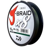 Daiwa J-Braid X8 Dark Green 15LB .19MM 300m Spool Photo