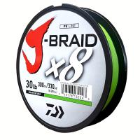 Daiwa J-Braid X8 Chartreuse 30LB .28MM 300m Spool Photo