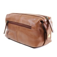 Bag Addict NUVO - Genuine leather WP-05 Toiletry Bag - Persimmon Photo