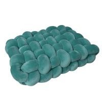 Creative Deco Large Knot Cushion Plush Spandex - Emerald Green Photo