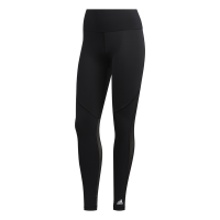adidas Women's Believe This Long 3-Stripe Mesh Tights - Black Photo