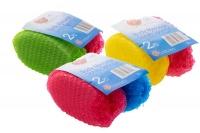 Bath Sponge Exfoliating Body Massage 2 pieces - 3 Pack Photo