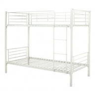 Hazlo Roma Single over Metal Bunk Bed with Ladder - White Photo