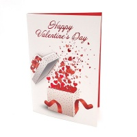 BUFFTEE Happy Valentines Day Card- Presents - Musical Led Card Photo