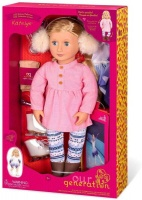 "Our Generation Delux Skating Doll With Book Katelyn 18"" Blond Photo"