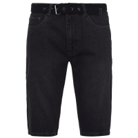 Pierre Cardin Mens Belt Denim Shorts - Washed Black [Parallel Import] Photo