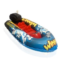 Toy Boat Inflatable Wind Up High Speed Kids Toy Bath Or Pool Fun Photo