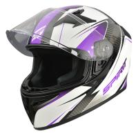 Spirit Tyro Purple Motorcycle Helmet Photo