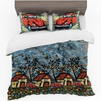 Print with Passion Beetle Town Duvet Cover Set Photo