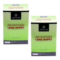 Pre-Moistened Lens Cleaning Wipes - 100 Cloths-Glasses & Cameras - 2 Pack Photo